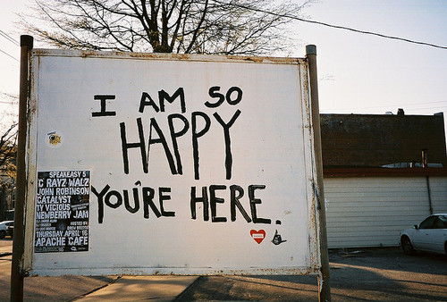 SO HAPPY YOU'RE HERE