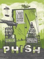 Phish Vermont Flood Benefit Poster