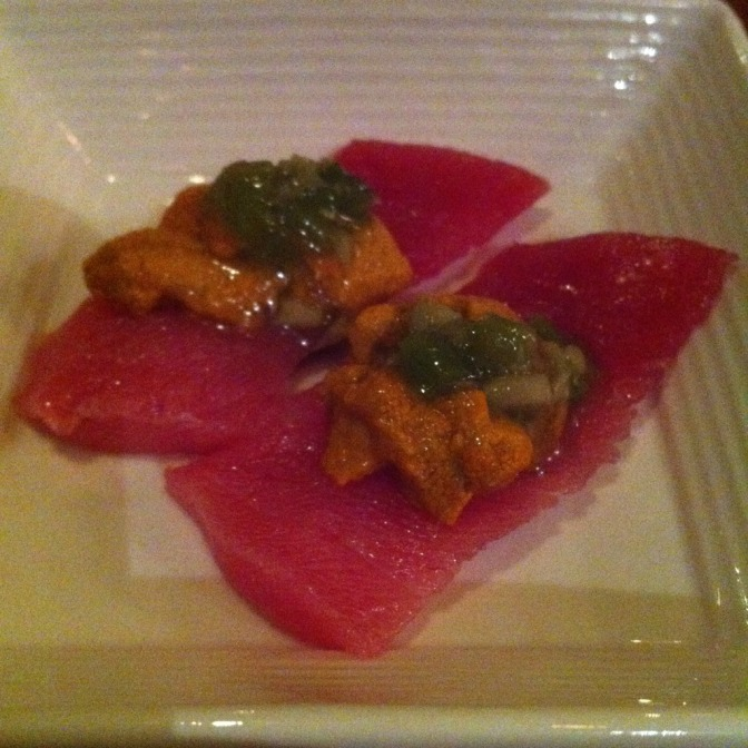 Toro / Uni Special (Taka Sushi and Passion)