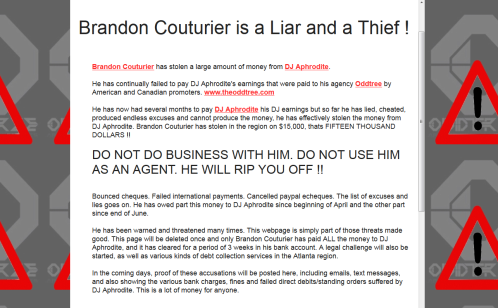 Aphrodite vs. Brandon Couturier Webpage