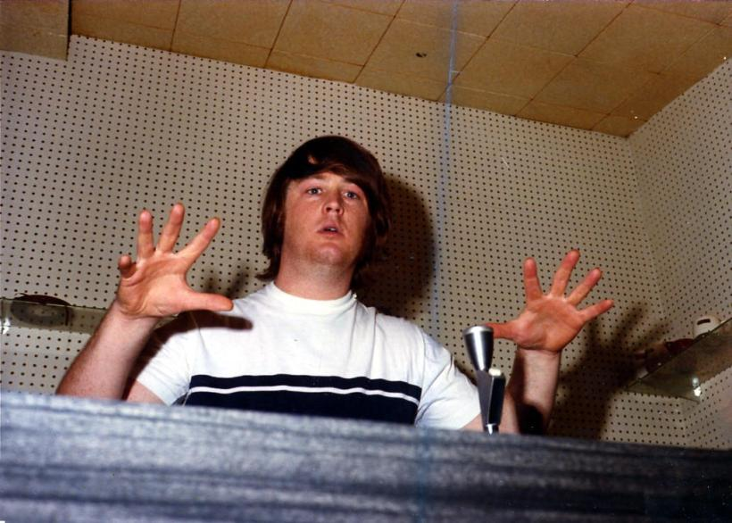 Brian Wilson at the console