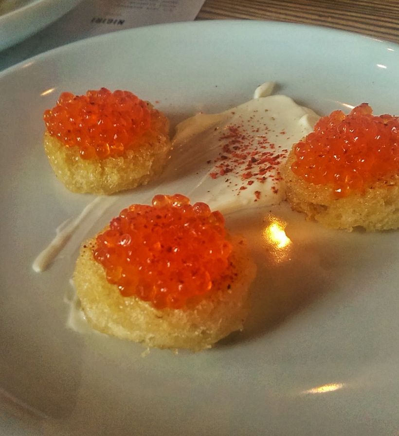 Trout Roe, Espelette Pepper, Raw Honey, Creme Fraiche [Lusca | Atlanta]