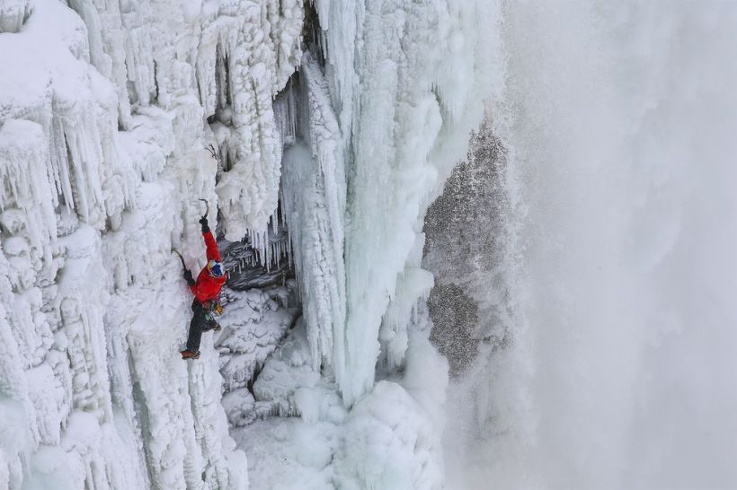 Climbing Niagara Falla